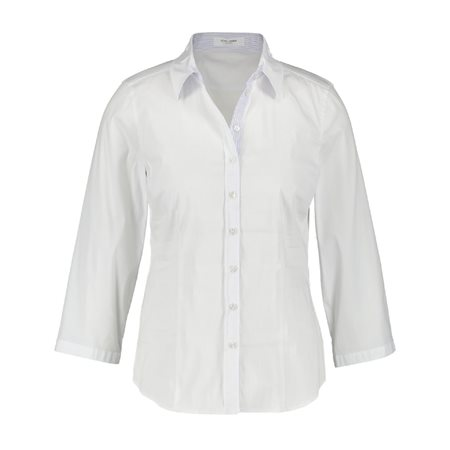 Gerry Weber Blouse With 3/4 Sleeves White  - Click to view a larger image