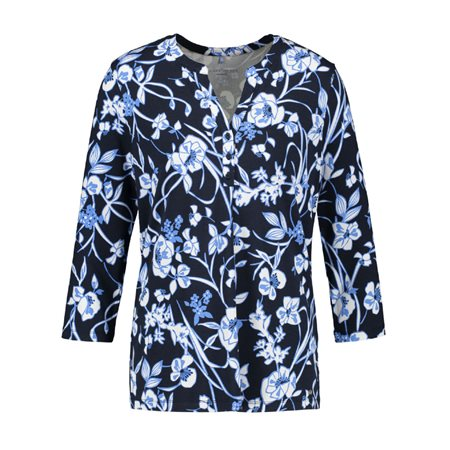 Gerry Weber Bold Floral Blouse Blue  - Click to view a larger image