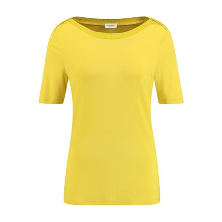 Gerry Weber Top With Detailed Neckline Lemon  - Click to view a larger image