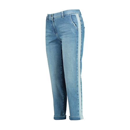 Gerry Weber Turn Up Jeans With Stripe Blue  - Click to view a larger image