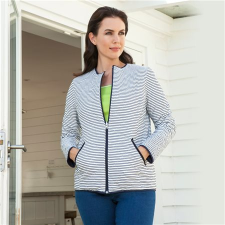 Emreco Lightly Quilted Jacket Navy  - Click to view a larger image