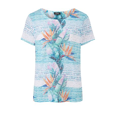 Emreco Tropical Flower Top Blue  - Click to view a larger image