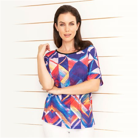 Emreco Geometric Loose Top Navy  - Click to view a larger image