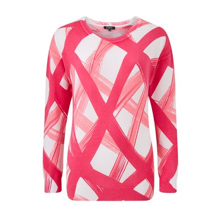Emreco Abstract Print Jumper Pink  - Click to view a larger image