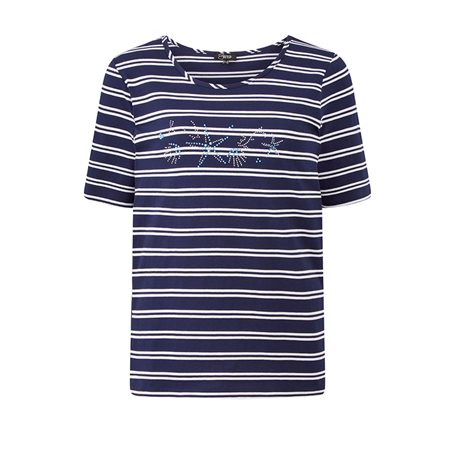 Emreco Striped Top Navy  - Click to view a larger image