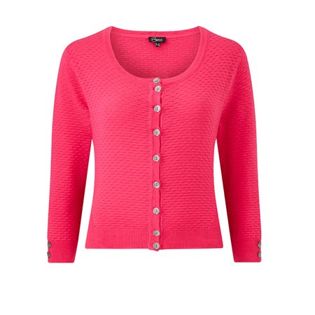 Emreco Roundneck Cardigan Pink  - Click to view a larger image