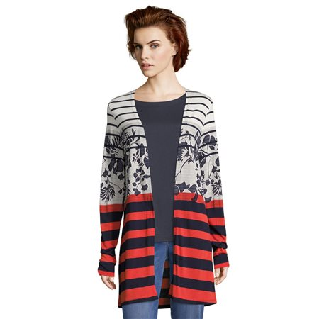 Betty Barclay Striped Cardigan Dark Blue  - Click to view a larger image