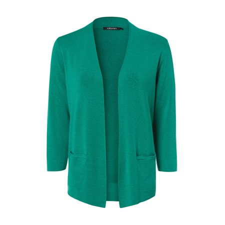 Olsen Edged Cardigan Green  - Click to view a larger image