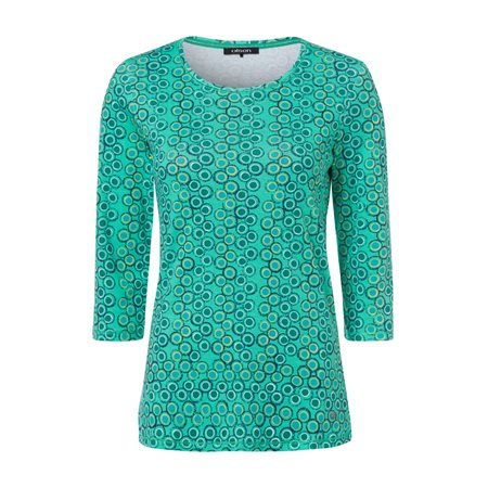 Olsen Circle Print Top Blue  - Click to view a larger image