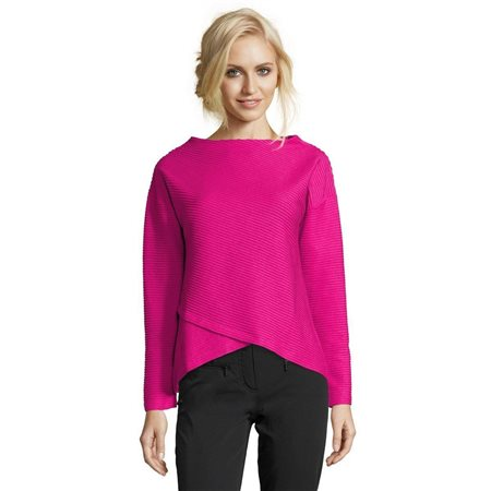 Betty Barclay Ribbed Layered Jumper Pink  - Click to view a larger image
