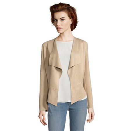 Betty Barclay Faux Suede Jacket Brown  - Click to view a larger image
