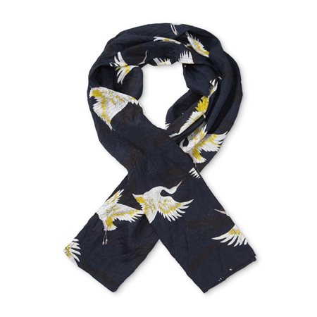 Masai Bird Scarf Navy  - Click to view a larger image