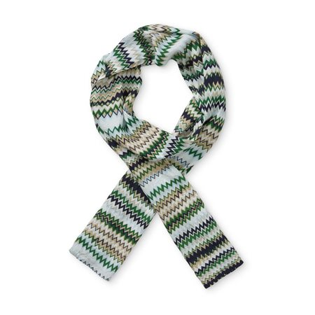 Masai Geometric Scarf Green  - Click to view a larger image
