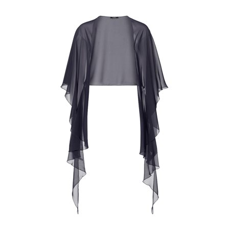 Vera Mont Chiffon Stole Navy  - Click to view a larger image