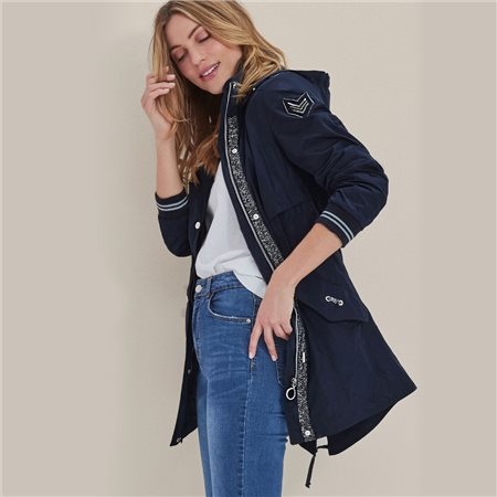 Lebek Military Detailed Coat Navy  - Click to view a larger image