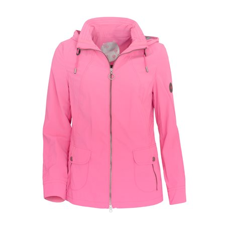 Lebek Hooded Casual Coat Magenta  - Click to view a larger image