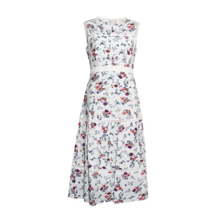 Fee G Boho Floral Dress White  - Click to view a larger image