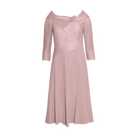 Rosa Clara Dress With Criss Cross Bodice Pink  - Click to view a larger image