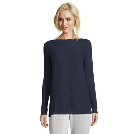 Betty & Co Ribbed Jumper Navy  - Click to view a larger image