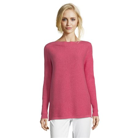 Betty & Co Ribbed Jumper Red  - Click to view a larger image
