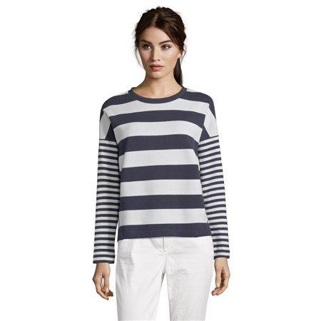 Betty & Co Striped Jumper Blue  - Click to view a larger image