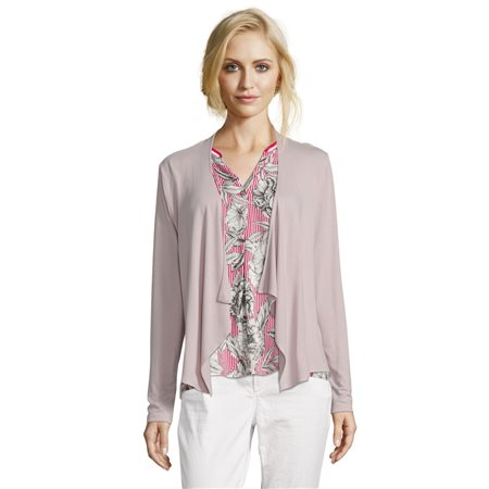 Betty & Co Waterfall Cardigan Pink  - Click to view a larger image