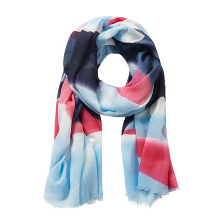 Betty & Co Multi Print Scarf Blue  - Click to view a larger image