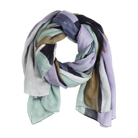 Sandwich Graphic Print Scarf Blue  - Click to view a larger image