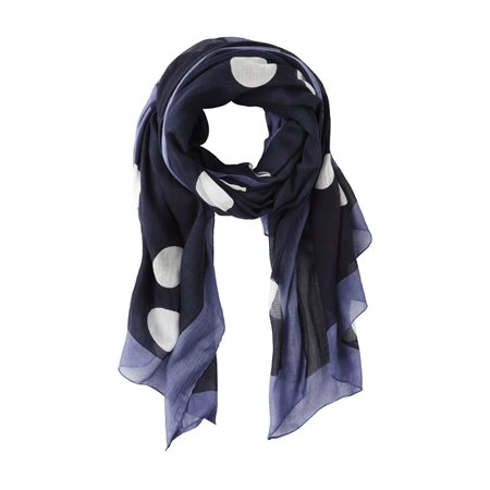 Sandwich Polka Dot Scarf Blue  - Click to view a larger image