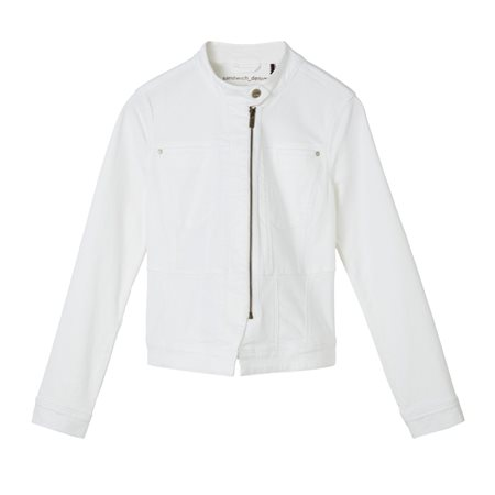 Sandwich Cotton Jacket White  - Click to view a larger image