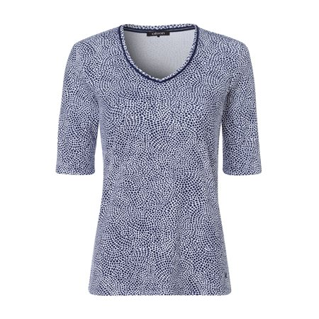 Olsen Moasic Print Top Blue  - Click to view a larger image