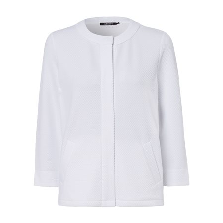 Olsen Waffle Button Cardigan White  - Click to view a larger image