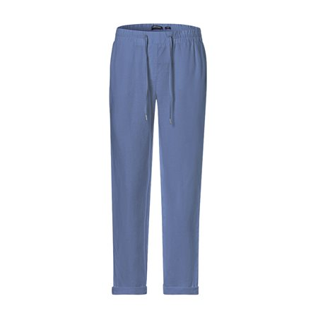 Olsen Lisa Linen Trousers Blue  - Click to view a larger image
