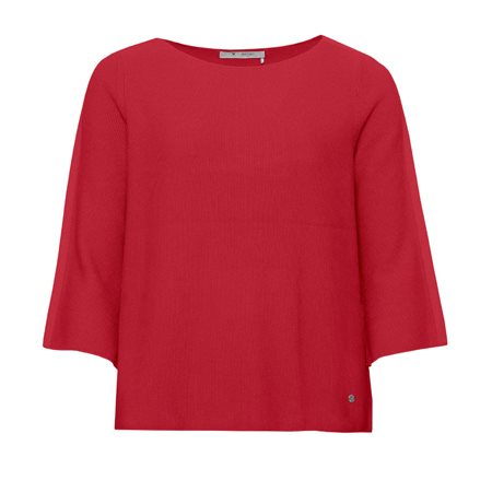 Monari Loose Fit Knitted Jumper Red  - Click to view a larger image