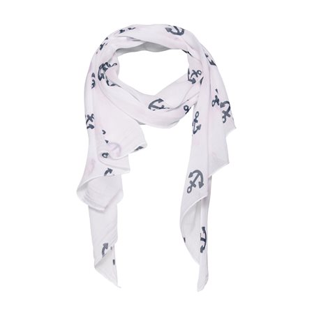 Monari Anchor Scarf White  - Click to view a larger image