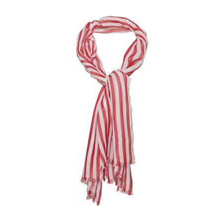 Monari Candy Stripe Scarf Red  - Click to view a larger image