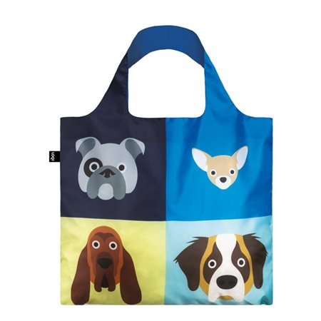 Loqi Stephen Cheetham Dogs Bag Blue  - Click to view a larger image