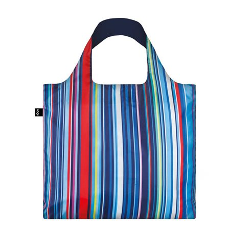 Loqi Nautical Stripes Bag Blue  - Click to view a larger image
