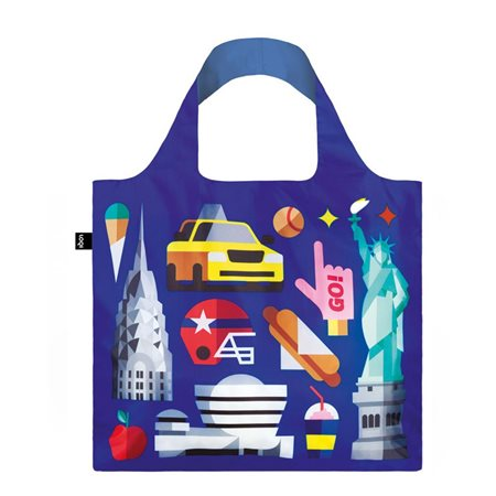 Loqi Hey Studio New York Bag Blue  - Click to view a larger image