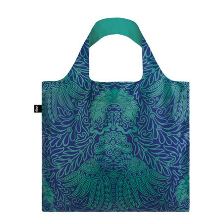Loqi Mad Japanese Decor Bag Blue  - Click to view a larger image
