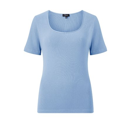 Emreco Sweetheart Neck Top Blue  - Click to view a larger image
