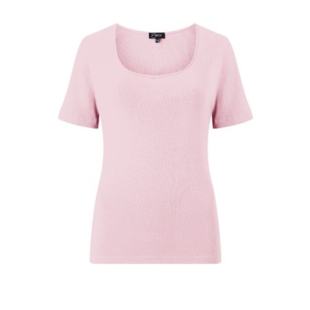 Emreco Sweetheart Neck Top Blush  - Click to view a larger image