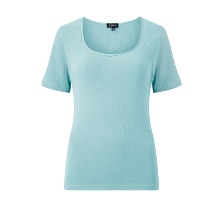 Emreco Sweetheart Neck Top Light Blue  - Click to view a larger image