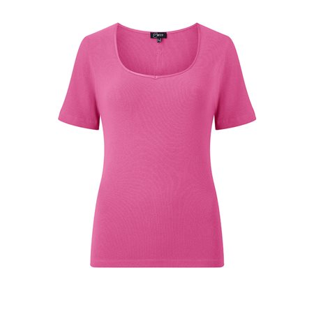 Emreco Sweetheart Neck Top Pink  - Click to view a larger image
