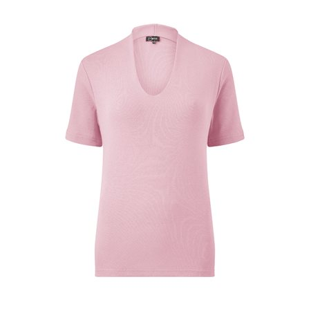 Emreco Short Sleeve High Neck Top Blush  - Click to view a larger image