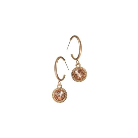 Hot Tomato Classic Drop Off Ear Rings Gold  - Click to view a larger image