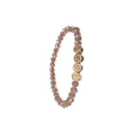 Hot Tomato Love Bracelet Taupe  - Click to view a larger image