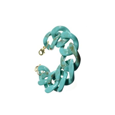Hot Tomato Acrylic Link Bracelet Green  - Click to view a larger image