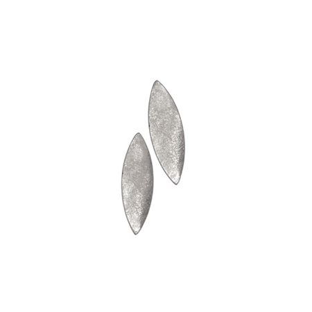 Hot Tomato Ellipse Studs Silver  - Click to view a larger image