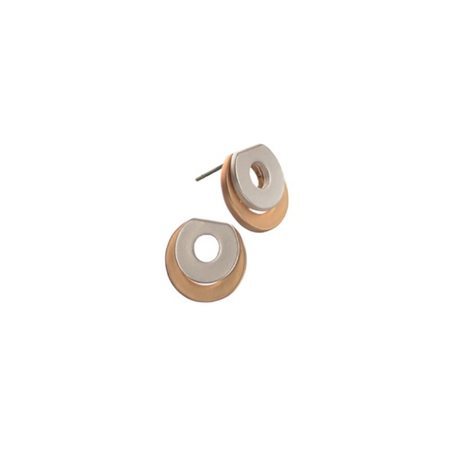 Hot Tomato Double Layer Washer Studs Silver  - Click to view a larger image